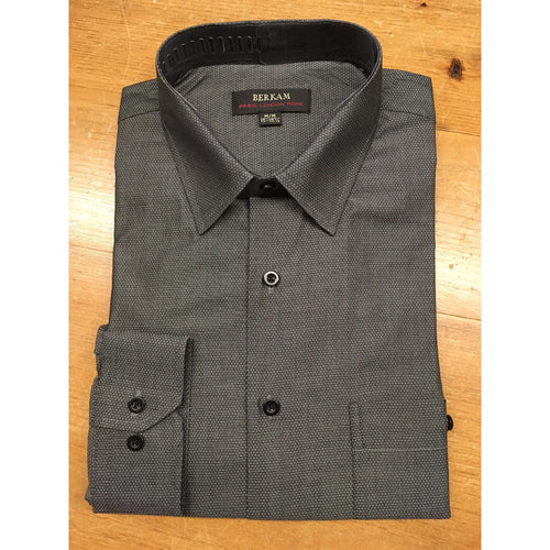 GREY PATTERN DRESS SHIRT-The Men's Shoppe & Her Boutique