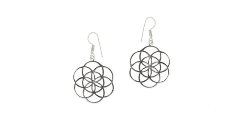 SEED OF LIFE EARRINGS BRASS