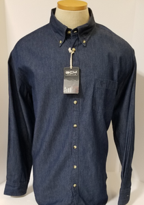 LONG-SLEEVE LIGHT-WEIGHT DENIM SHIRT