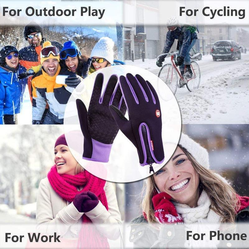 Touchscreen Winter Gloves for Bicycling Running Skiing