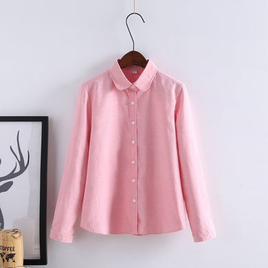 Casual Long Sleeve Blouse - Veignity