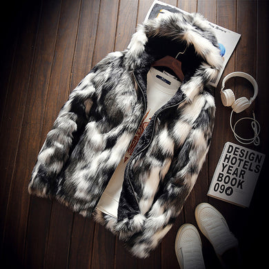 Winter Faux Fur Jacket Coat - Veignity