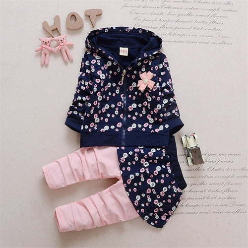 Girl's Hoodie + Skirt Pants Tracksuit Set - Veignity