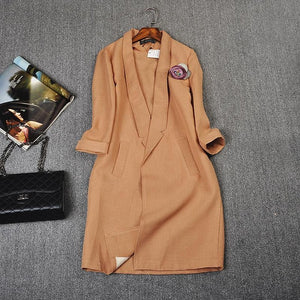 Three Quarter Sleeve Blazer - Veignity