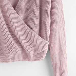 Purple V Neck Sweater - Veignity