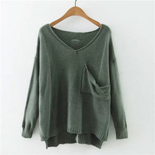 Green V Neck Sweater - Veignity