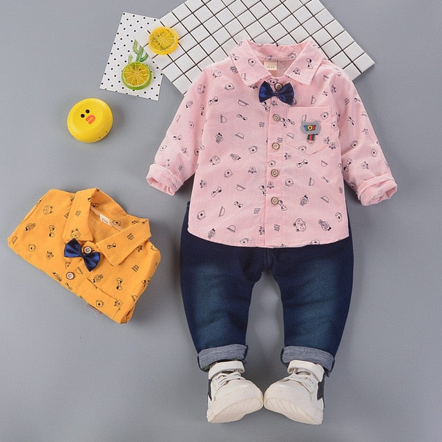 Boy's Polo + Pants Clothing Set - Veignity