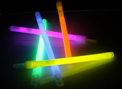 "6"" Assorted Color Premium Glow Sticks"