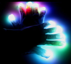6 FUNCTION LED RAVE GLOVE SET