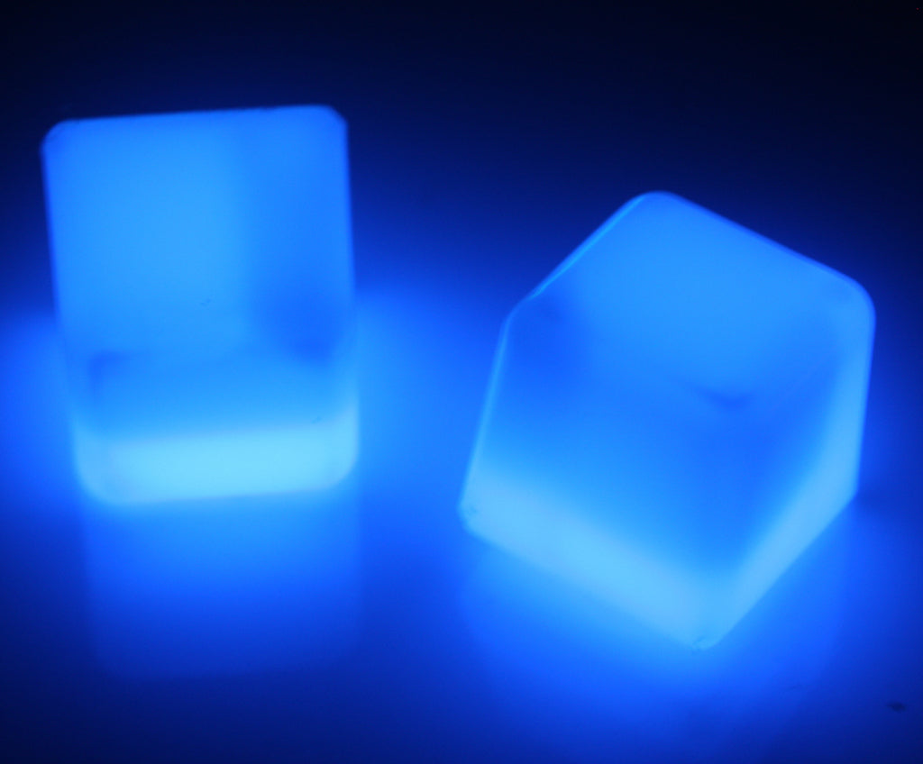 Blue Glow Ice Cubes Ravestuff Glow Sticks Necklaces