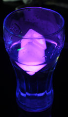 Pink Glow Ice Cubes
