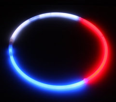 Tri-Color RWB Glow Necklaces