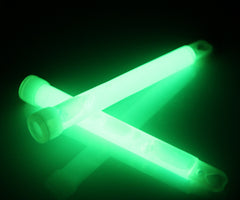 "6"" Green Premium Jumbo Glow Sticks"