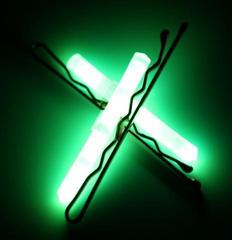 Glow Hairclips Green Color