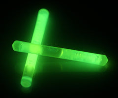 "1.5"" Green Mini Glow Sticks"