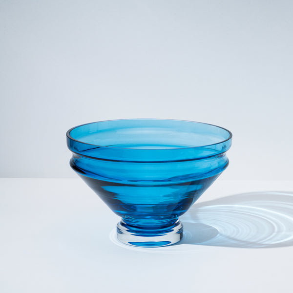 Relæ - large glass bowl - aquamarine blue
