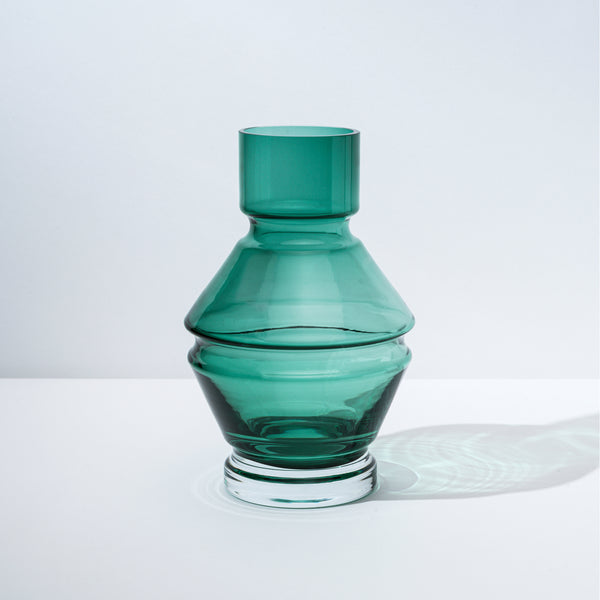 raawii Relæ - Large Glass Vase Vase Bristol Green