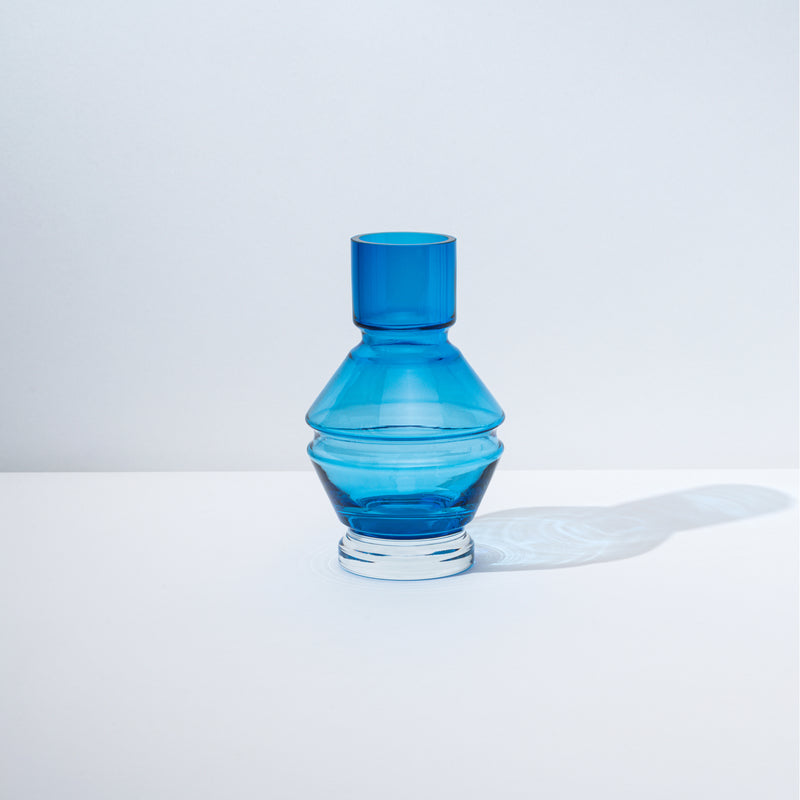 Relæ - small glass vase - aquamarine blue