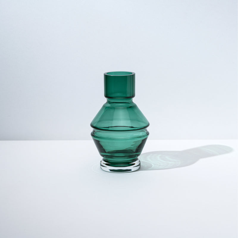 Relæ - small glass vase - bristol green