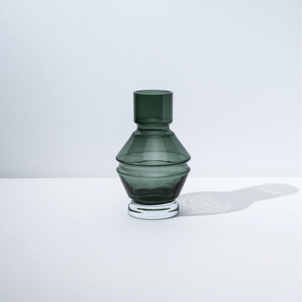 raawii Relæ - Small Glass Vase Vase Cool Grey