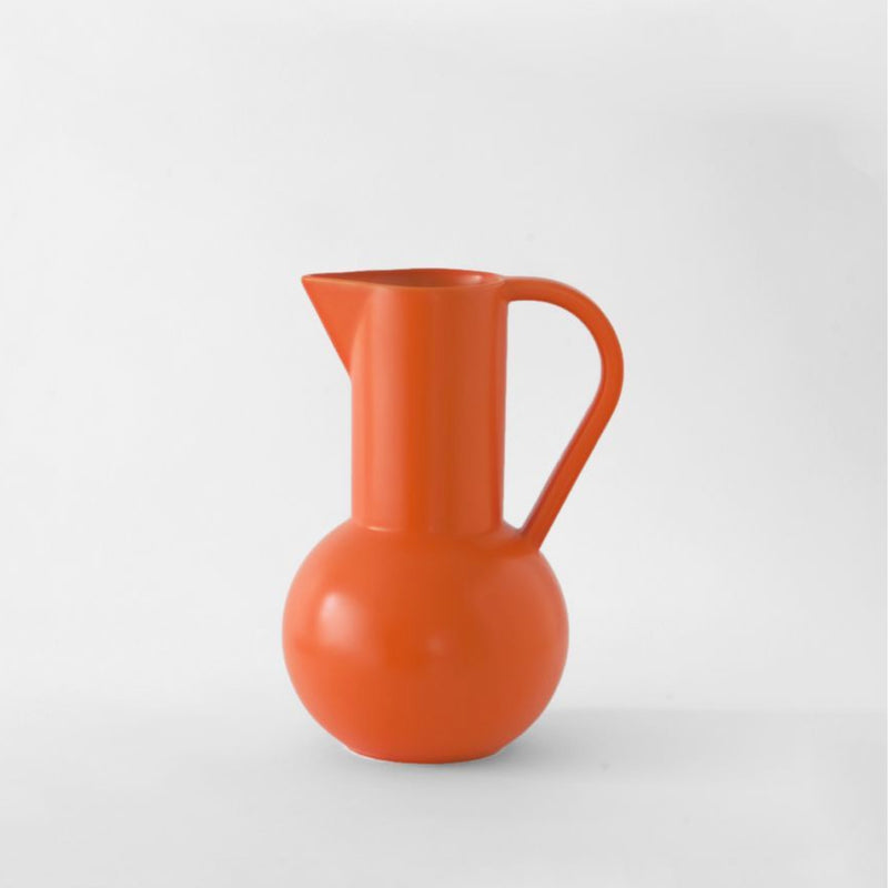 raawii Strøm - Medium Jug Jug Vibrant Orange