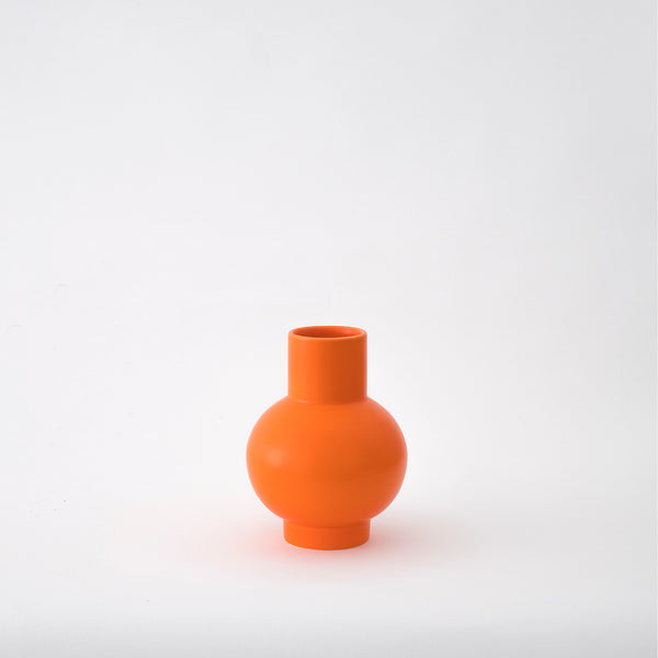 Strøm - small vase - vibrant orange
