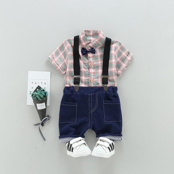 2 Piece Animal T-Shirt & Overalls