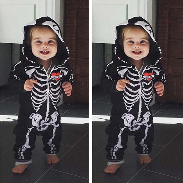 Skeleton Hooded Full Length Halloween Costume