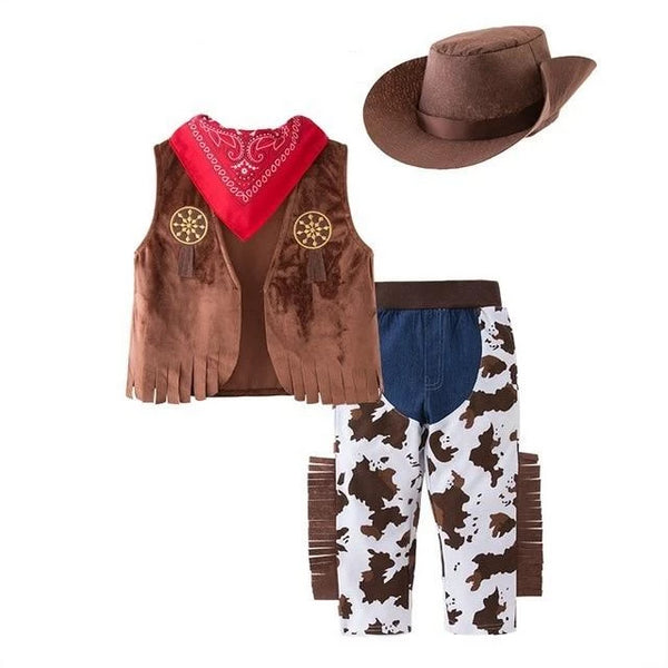 3 Piece Baby Cowboy Halloween Costume