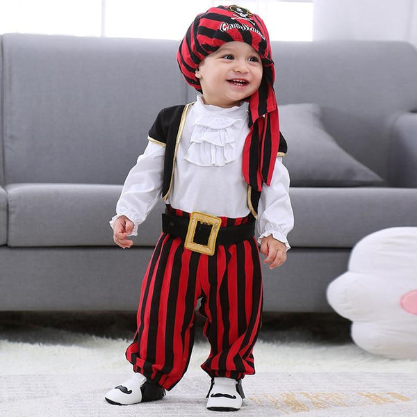 4 Piece Pirate Halloween Costume