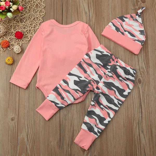 Pink & Camo Four Piece Outfit