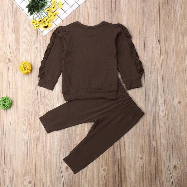 Two Piece Ruffle Sleeve Sweater & Pants