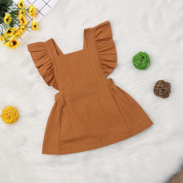 Vintage Ruffle Sleeve Dress