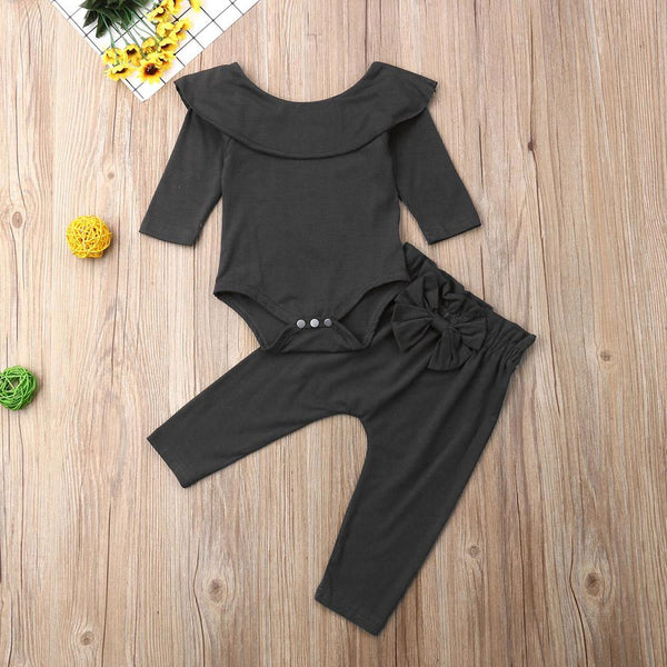 Two Piece Ruffle Body Suit & Pants