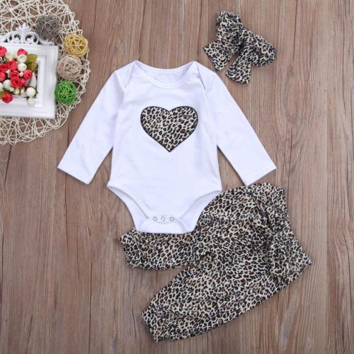Cute Heart Three Piece Outfit