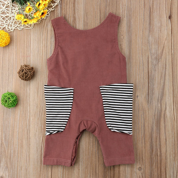 Large Pocket Sleeveless Romper