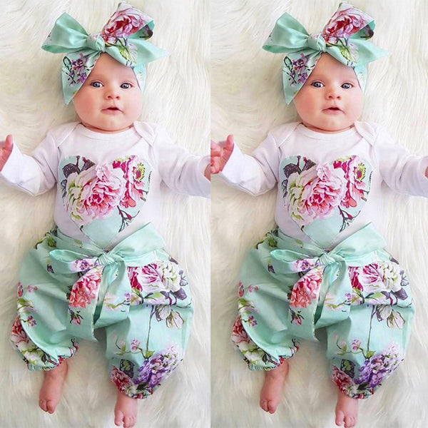 Floral Three Piece Spring Outfit