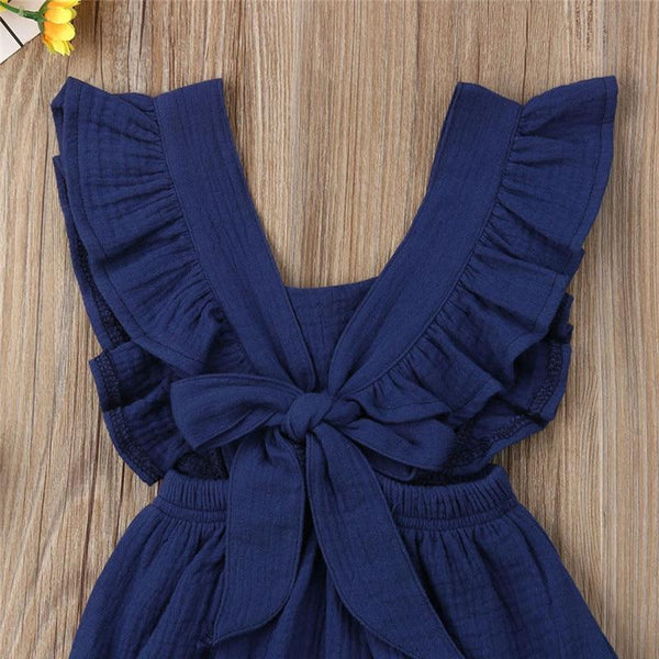 Ruffle Detail Ruched Waist Jumpsuit