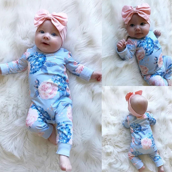Floral Full Length Jumpsuit & Headband