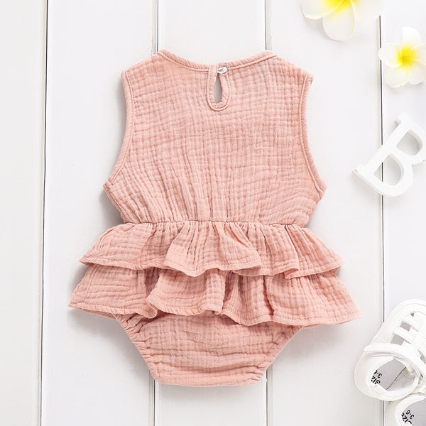 Sleeveless Ruffle Romper