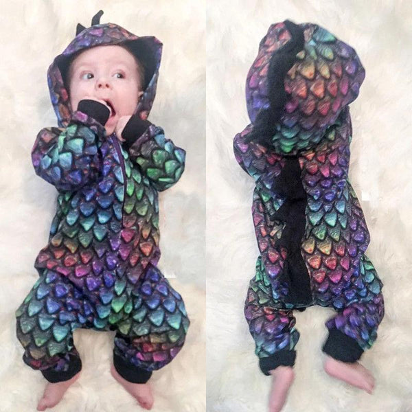 Rainbow Dinosaur Hooded Halloween Costume