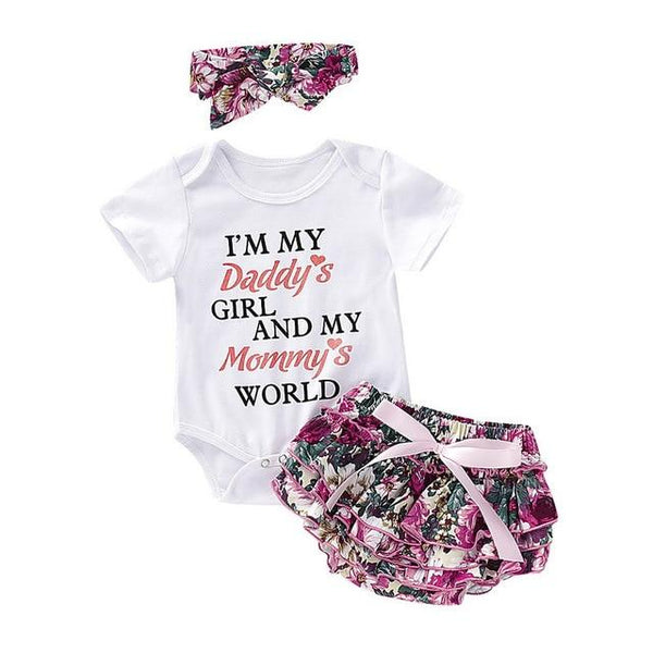 Daddy's Girl & Mommy's World Three Piece Outfit