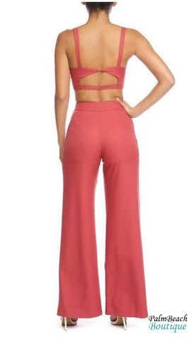 2-Pc Rose Crepe Pant Set - 2-Pc Sets