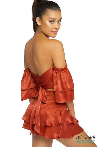 2-Piece Off-The-Shoulder Skirt Set - 2-Pc Sets