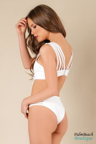 Bandage Gold Detail Bathingsuit - Swimwear