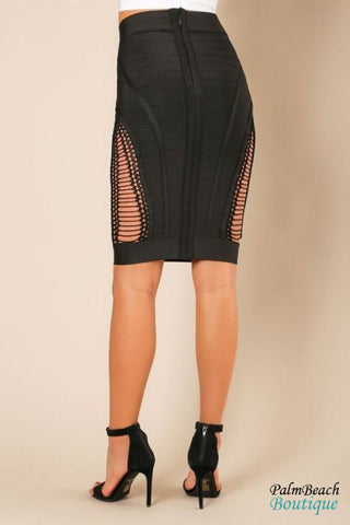 Bandage Pencil Skirt - Womens Skirts