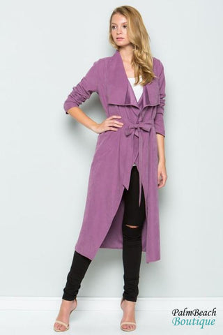Flyaway Open Front Long Duster - Womens Coats & Jackets