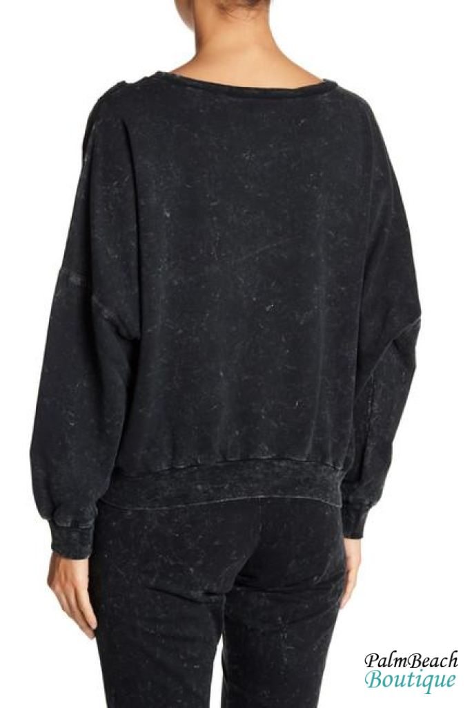 Grunge Faded Sweatshirt - Womens Tops