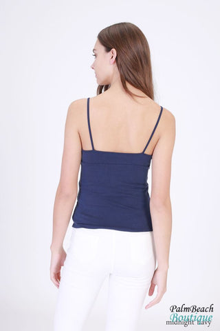 Jersey V-Neck Top - Womens Tops