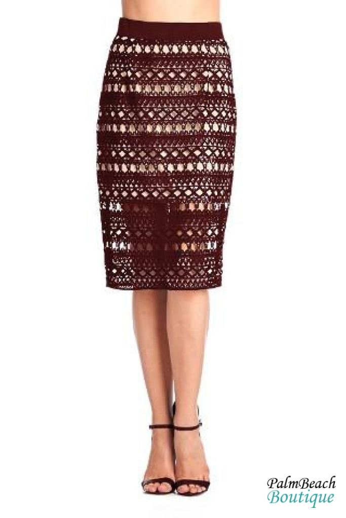 Knee Length Skirt - Womens Skirts